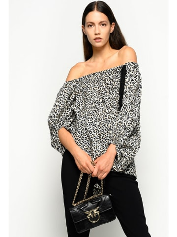 Pinko Bluzka w kolorze biało-czarnym ze wzorem