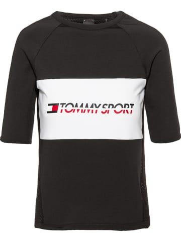 Tommy Hilfiger Koszulka sportowa w kolorze czarnym