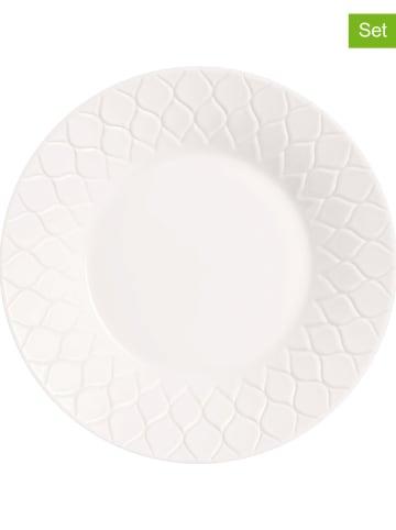 """Luminarc 18-częściowy zestaw talerzy """"Amario"""" w kolorze białym"""