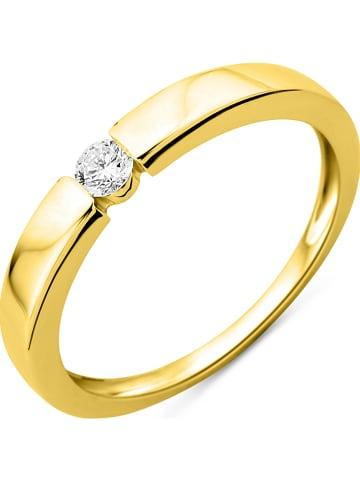 Diamant Exquis Złoty pierścionek z diamentem