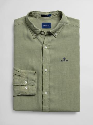 Gant Leinen-Hemd in Oliv