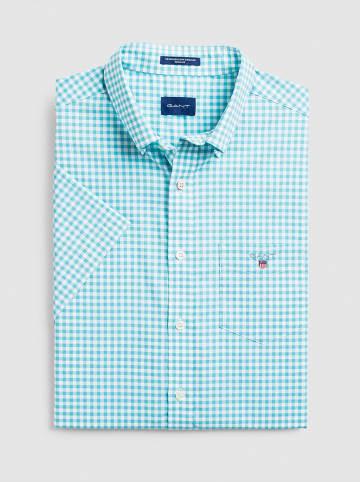 Gant Hemd in Türkis/ Weiß