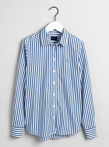 Gant Blouse donkerblauw/wit