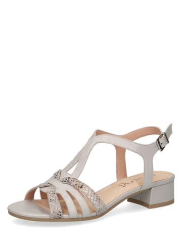 Caprice Skórzane sandały w kolorze szarym