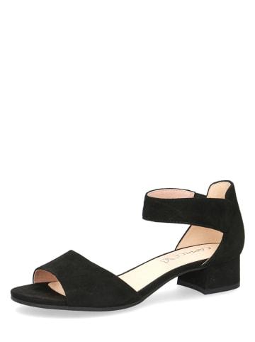 """Caprice Skórzane sandały """"Carla"""" w kolorze czarnym"""