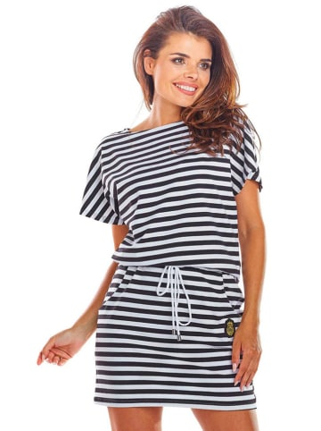 INFINITE YOU Sukienka w kolorze czarno-białym