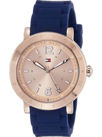 Tommy Hilfiger Zegarek kwarcowy w kolorze niebiesko-różowozłotym