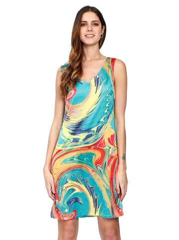 William de Faye Sukienka w kolorze turkusowym ze wzorem