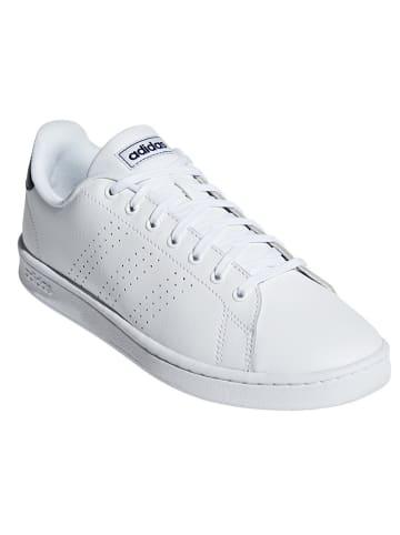 """Adidas Skórzane sneakersy """"Advantage"""" w kolorze białym"""