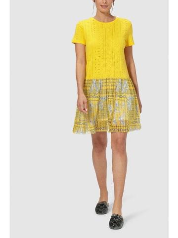 Rich & Royal Sukienka plisowana w kolorze żółtym
