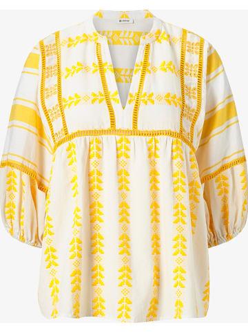 Rich & Royal Bluse in Gelb/ Weiß