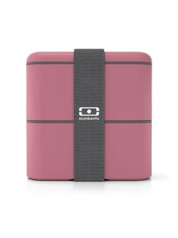 """Monbento Lunchbox """"Square"""" antraciet/roze - 800 ml"""