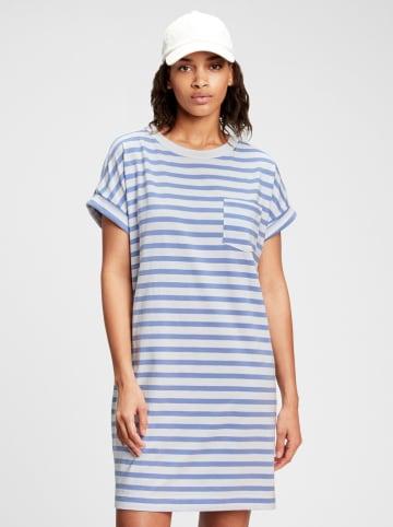 GAP Sukienka w kolorze niebiesko-białym