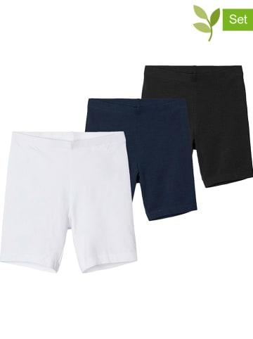 Name it Szorty (3 szt.) w kolorze czarnym, granatowym i białym