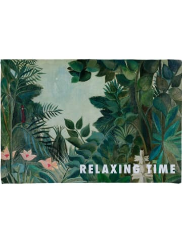 """Really Nice Things Badmat """"Relaxing Time"""" groen/meerkleurig - (L)60 x (B)40 cm"""