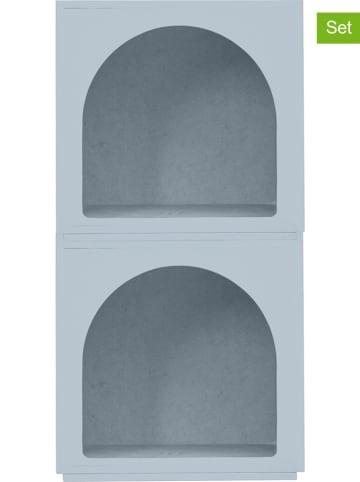 "Really Nice Things 2-delige set: modulekasten ""Modular Arco"" lichtblauw - (B)39 x (H)38 x (D)33 cm"