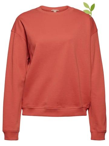 ESPRIT Bluza w kolorze koralowym