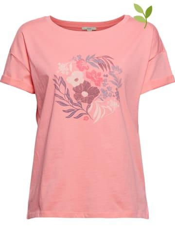 ESPRIT Koszulka w kolorze koralowym