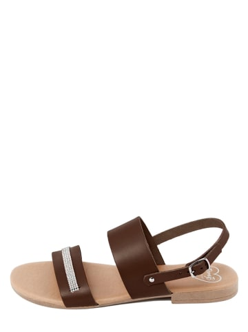 Romy B Leren sandalen bruin