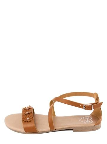 Romy B Leren sandalen camel