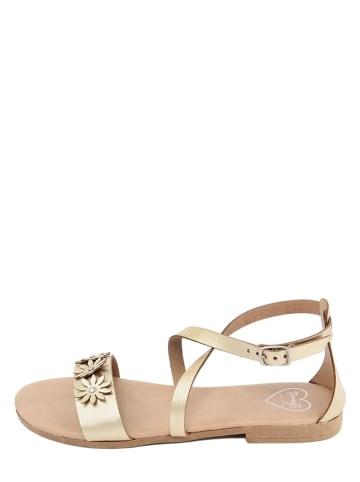 Romy B Leren sandalen goudkleurig