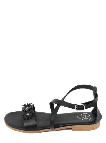 Romy B Leren sandalen zwart