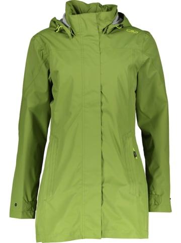 CMP Płaszcz przeciwdeszczowy w kolorze zielonym
