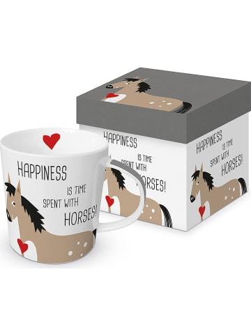 "Ppd Mok ""Happiness & Horses"" beige/zwart - 350 ml"