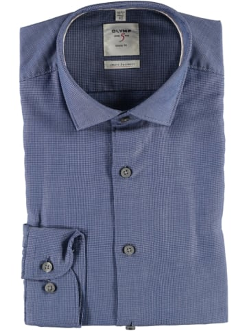 """OLYMP Blouse """"Level 5 Smart Business"""" - body fit - donkerblauw"""