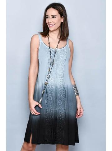 Tarifa Sukienka w kolorze czarno-jasnoniebieskim