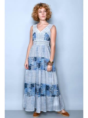 Tarifa Sukienka w kolorze niebieskim ze wzorem