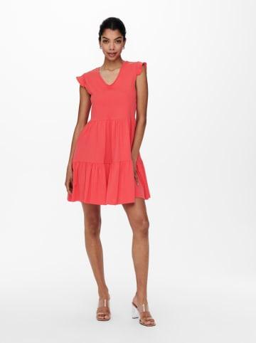 """ONLY Sukienka """"Onlmay Life"""" w kolorze koralowym"""