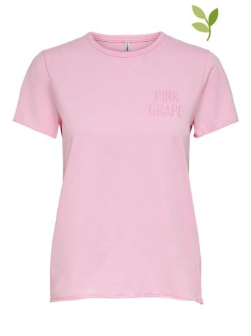 """ONLY Koszulka """"Onlfruity Life"""" w kolorze jasnoróżowym"""