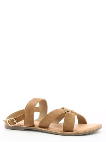 """Kickers Leren sandalen """"Diba 2"""" bruin"""