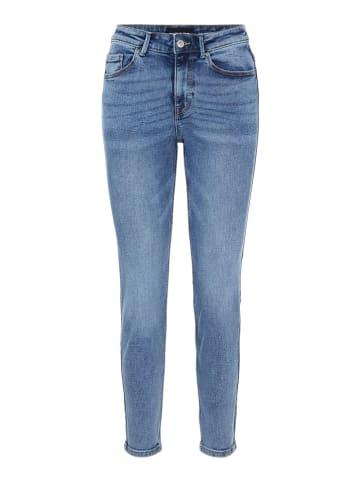Pieces Dżinsy - Slim fit - w kolorze błękitnym