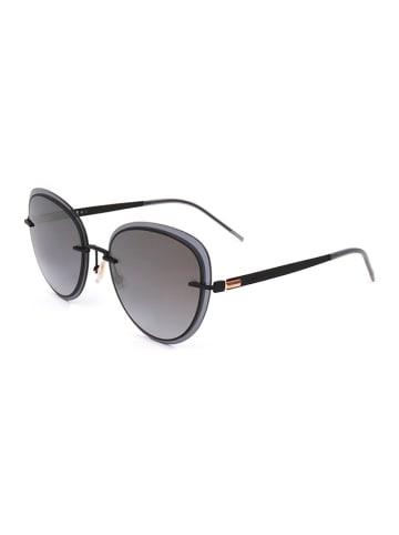 Hugo Boss Damskie okulary przeciwsłoneczne w kolorze szaro-czarnym