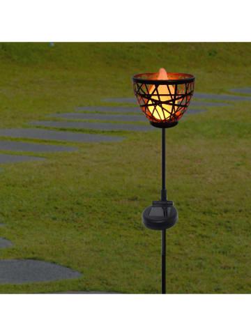 "Lumisky LED-Solar-Gartenstecker ""Blossom"" in Schwarz - (H)84,5 cm"