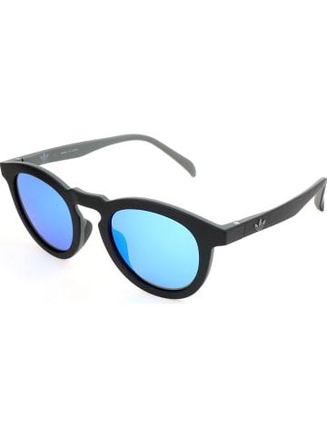 Adidas Okulary przeciwsłoneczne unisex w kolorze czarno-niebieskim