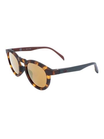 Adidas Okulary przeciwsłoneczne unisex w kolorze brązowym