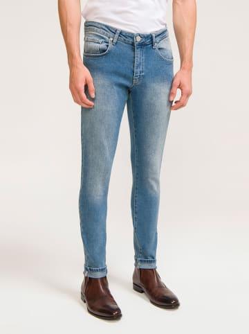 Ron Tomson Spijkerbroek - skinny fit - lichtblauw