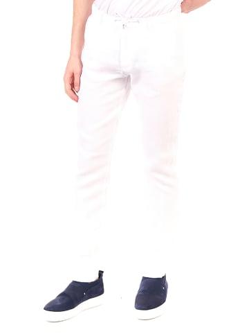 Ron Tomson Lniane spodnie w kolorze białym