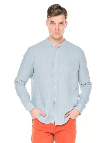 Ron Tomson Leinen-Hemd in Blau