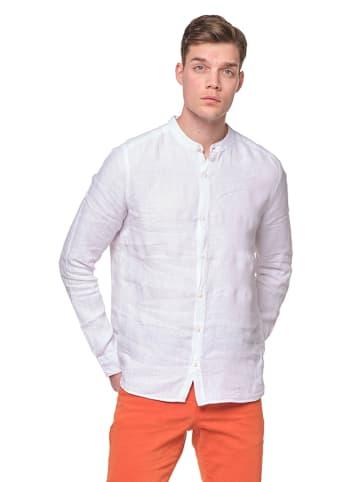 Ron Tomson Leinen-Hemd in Weiß