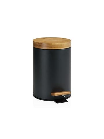 Andrea House Kosz w kolorze brązowo-czarnym - (W)26 x Ø 17 cm