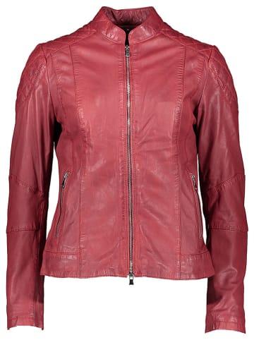 KRISS Skórzana kurtka w kolorze czerwonym