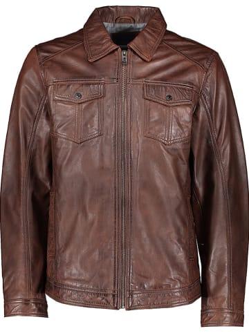 Pioneer Leren jas lichtbruin