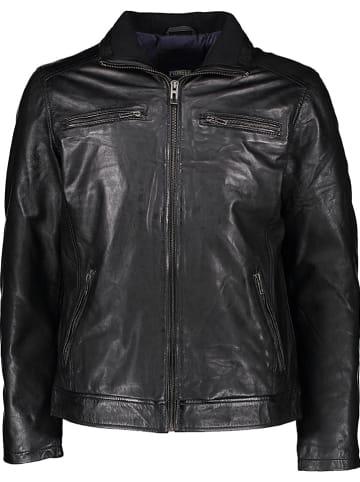 Pioneer Leren jas zwart