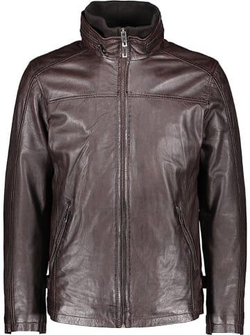 Pioneer Skórzana kurtka w kolorze brązowym