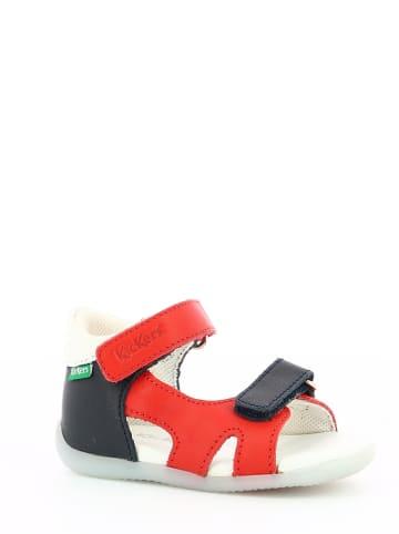 """Kickers Leren sandalen """"Binsia 2"""" rood/donkerblauw"""