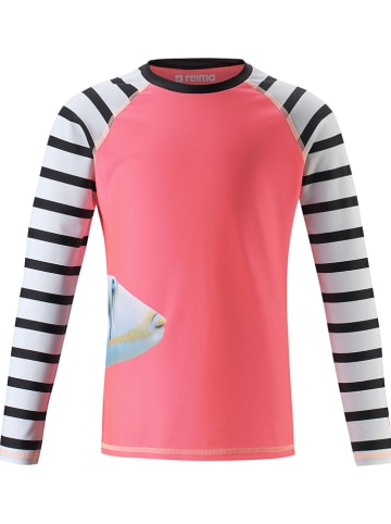 "Reima Zwemshirt ""Madagaskar"" roze/wit/zwart"